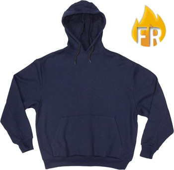 Key FR Navy Pull Over Hooded Sweatshirt