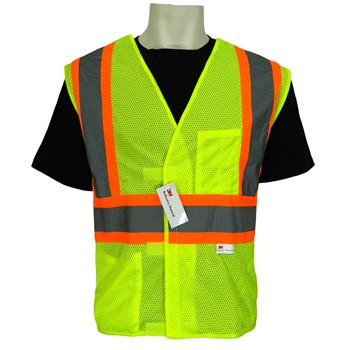 FrogWear® class 2 mesh safety vest, 5 PT Tear Away