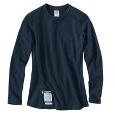 Carhartt Women's FR Force Cotton Long Sleeve T-Shirt Navy