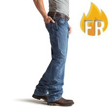 Ariat FR Low Rise Boot Cut Jean - Flint