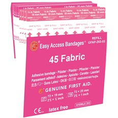 Easy Access Fabric Bandages 45 count - 10/box  - 9999-3043