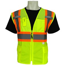 FrogWear® class 2 Surveyors safety vest - lime mesh