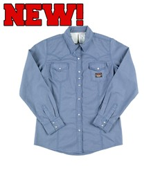 Rasco FR Women's Blue Work Shirt - 7.5oz - W-WR753