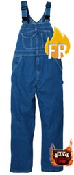 Key Flameout FR Traditional Denim Bib Overall
