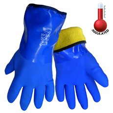 Global Glove: 8490 Frog Wear Insulated Flexible PVC - Per Dozen/Size