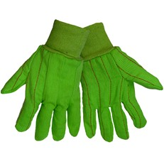 Global Glove: C18GRC Green Corded Cotton - Per Dozen/Size