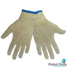 Global Glove: S55 String Knit Natural Color - Per Dozen/Size