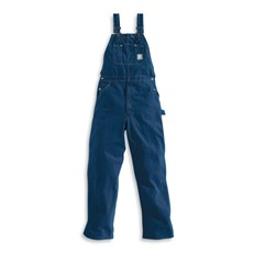 Carhartt Washed-Denim Bib Overalls - R07