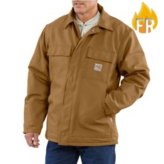 Carhartt FR Duck Quilt-Lined Coat - Brown