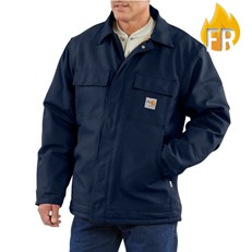 Carhartt FR Duck Quilt-Lined Coat - Navy