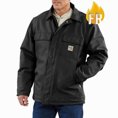 Carhartt FR Duck Quilt-Lined Coat - Black