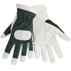 Global Glove: HR4008 Goatskin Leather/Spandex Mechanics Per Dozen/Size