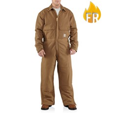 Carhartt FR Duck Coverall - Quilt Lined - Brown