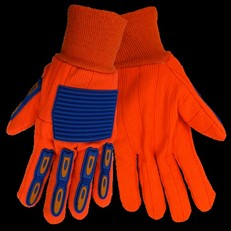 Global Glove Orange/Blue Impact