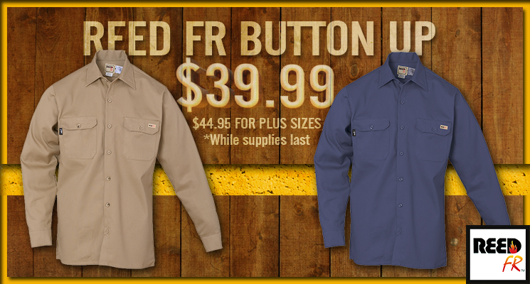 Reed FR Button Up Sale